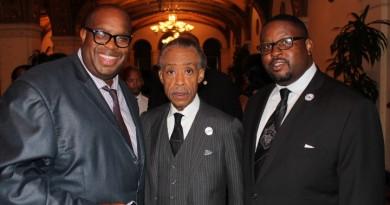 Rev. Al Sharpton Michael Reel and Rev. Tulloss