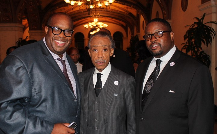 Rev. Al Sharpton Michael Reel and Rev. Tulloss