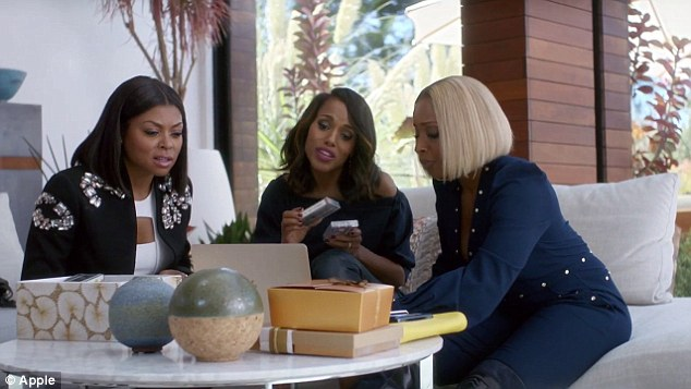 Apple Commercial Continues To Connect, Featuring, Taraji P. Henson, Kerry Washington & Mary J. Blige