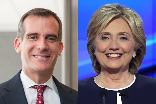 Eric-Garcetti-Hillary-Clinton