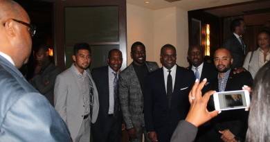Kasim Reed, Mayor of Atlanta with invited guests, Beverly Hills, CA.