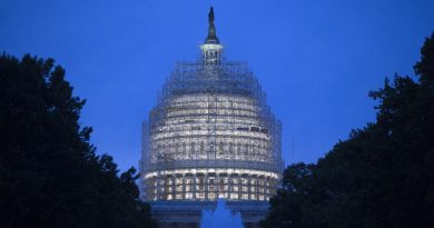 Scaffolding surrounds the U.S. Capitol Building while it undergoes repairs in Washington, D.C., U.S., on Wednesday, Nov. 5, 2014. Republicans roared back in the midterm elections on Tuesday, capturing control of the Senate from Democrats, winning crucial governor races and solidifying their majority in the U.S. House. Photographer: Andrew Harrer/Bloomberg via Getty Images