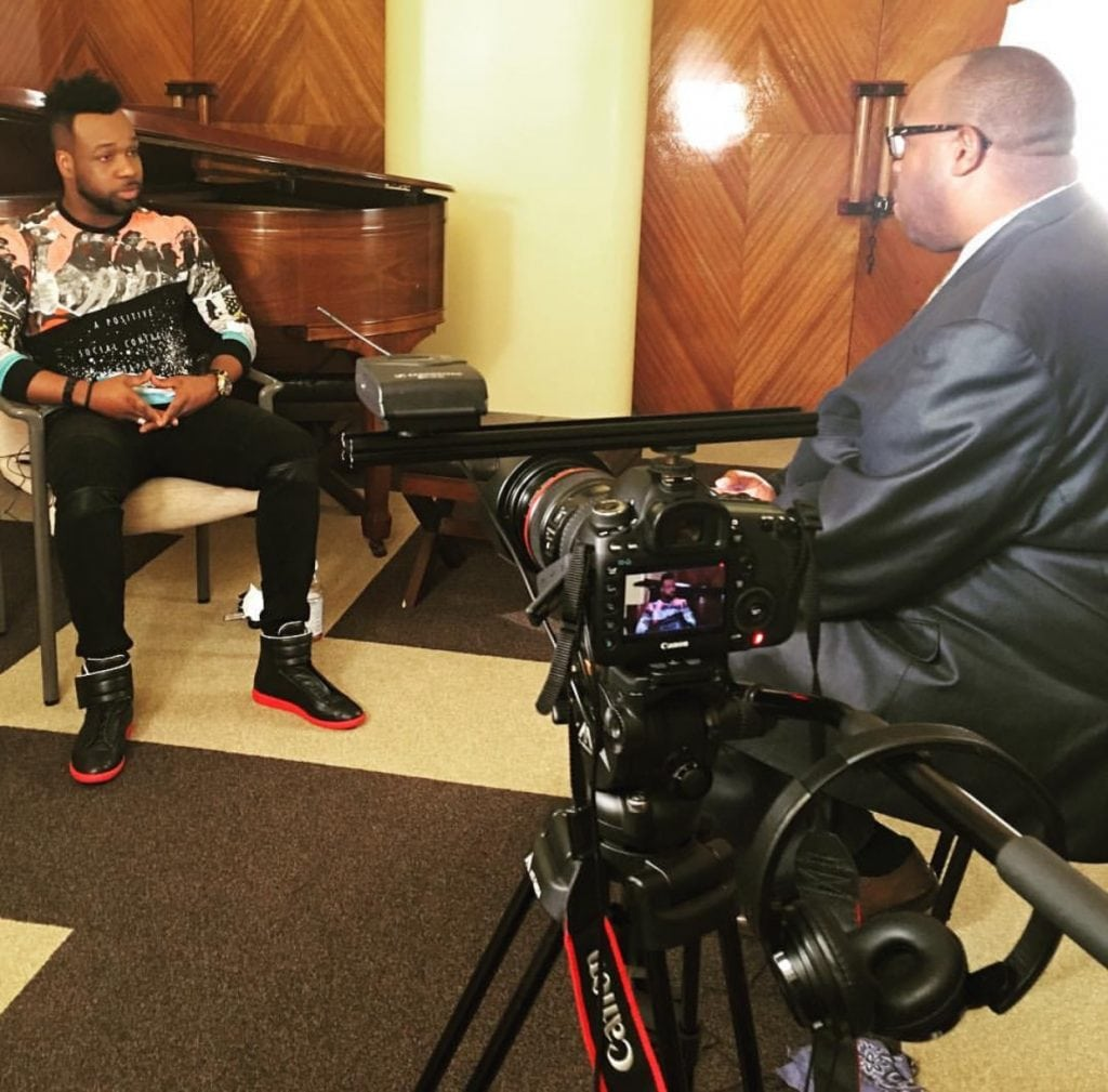Global Gospel Recording Artist, VaShawn Mitchell discussing new album, Secret Place: Live in South Africa w/Michael Reel, Reel Urban News in Los Angeles, CA.