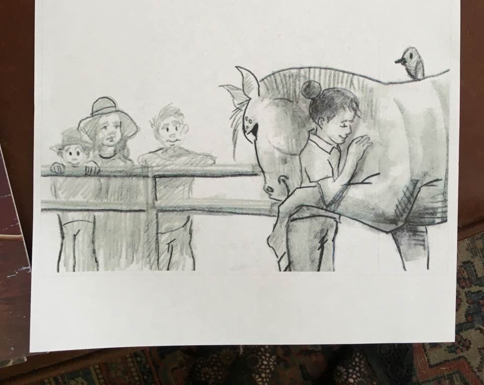 "Michael Cook, Illustrator ""The Horse Who Loves Hats"""