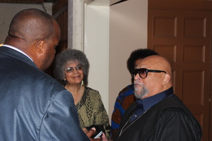 Dr. Maulana Karehga, Founder of Kwanzaa interviewed by Michael Reel, Reel Urban News. Photo Credit: Otis Mitchell/Reel Urban Images