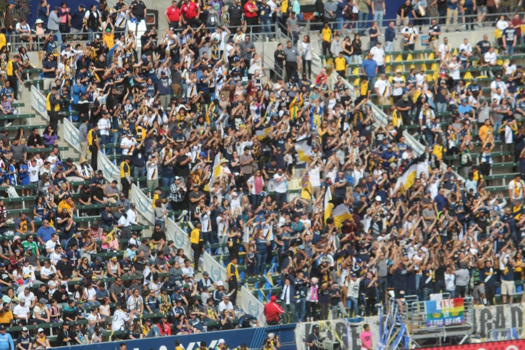 L.A. Galaxy home open attracted some 23 thousand loyal fans to STUBHUB CENTER, Ca. Photo Credit: Michael Reel/Reel Urban Iamges