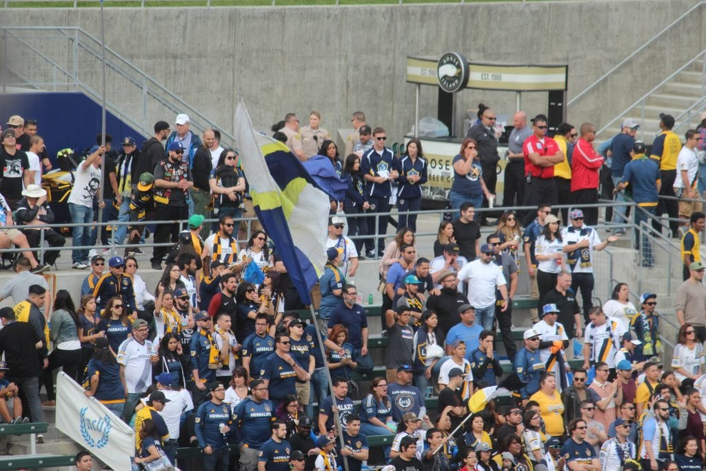 L.A. Galaxy home opener attracted some 23 thousand plus loyal fans to STUBHUB CENTER, Carson, Ca. Photo Credit: Michael Reel/Reel Urban Images