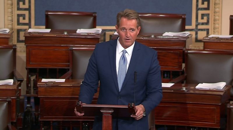 "Republican Senator Jeff Flake Champions Free Media, not Trump and ""Fake News"""