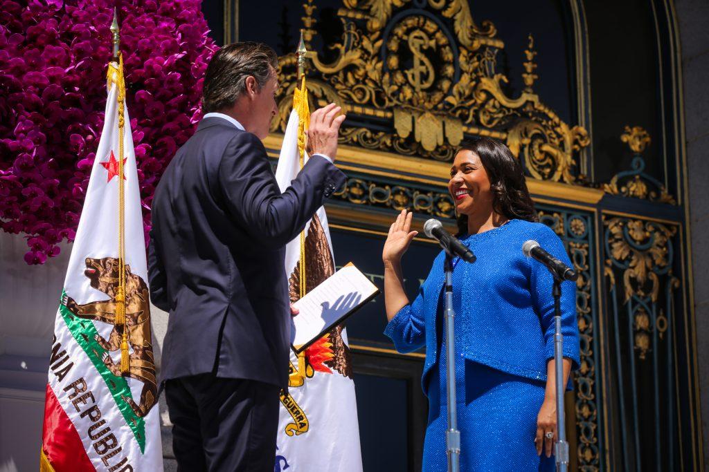 Mayor London Breed takes the oath of office