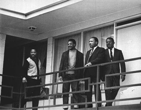 Rev. Dr. Martin Luther King, Jr. and his trusted aids